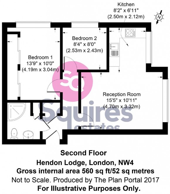 Floorplan for Sunningfields Road, Hendon, London